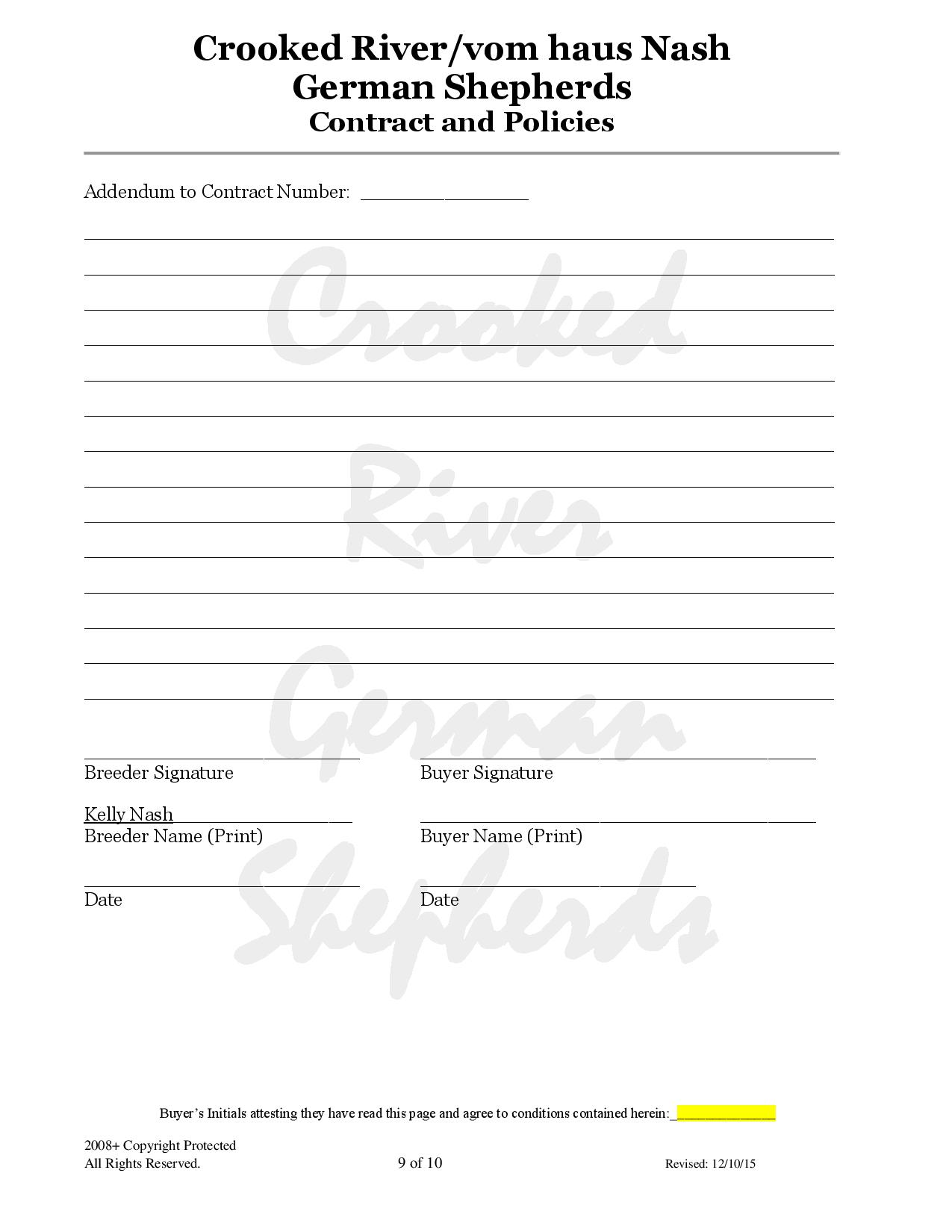 Crooked River Gsd S Contract Page 9